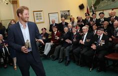 Pin for Later: Prince Harry Bonds With Veterans at a Reception in England