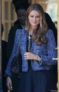 An expectant Princess Madeleine attends the tribute September 8, 2013 to the late Princess Lilian, died 10 March, the Anglican church of St Peter and St Sigfrid Stockholm.