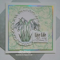 The very beautiful Snowdrop stamp by Honey Doo Crafts Honey Doo Crafts, Poppy Cards, Cross Stitch Cards, Wow Products, Flower Cards, Anniversary Cards, Handmade Cards, Cardmaking, Card Ideas