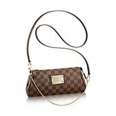 0ba7f28d3 Eva Clutch Damier Ebene Canvas - Handbags   LOUIS VUITTON Louis Vuitton  Clutch, Louis Vuitton