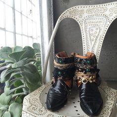 հﻪռժოﻪժε •• upcycled gypsy boots ꊛ vintage/handmade ꊛ size 7 ꊛ preloved  ☾ one of a kind gypsy shoes handmade by a designer out of a pair of vintage boots. these are absolutely stunning but I hardly wear them so I want to make room for something I will get more use out of. please note that since these are handmade + vintage it will show charm + character and are not perfect but overall a very well made pair of boots.   ꊛ × no paypal × no trades × be kind, have fun & stay lovely ო  メℴ メℴ…