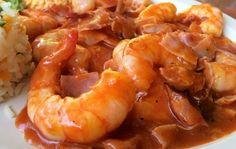 Vas a amar esta receta de camarones a la diabla
