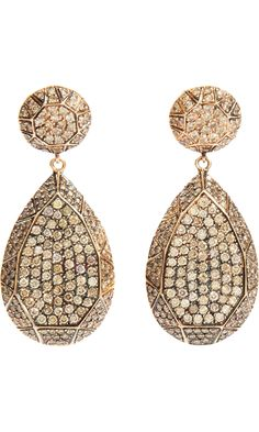 Ileana Makri Champagne Diamond Gem Teardrop Earrings.......Awesome!!!  @ Barneys
