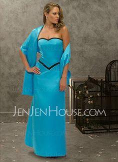 Bridesmaid Dresses - $85.99 - Gorgeous A-Line/Princess Strapless Floor-Length Satin Bridesmaid Dress with Sash (007001471) http://jenjenhouse.com/pinterest-g1471
