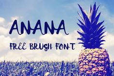 Anana free font the handmade brush font is coming to complete your summer vibe design. This fun and playful script font