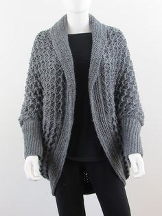 This easy crochet Cocoon Cardigan crochet pattern is really fun to make. The end product is a comfy and classy blanket sweater that you wouldn't want to take off. Crochet Slipper Pattern, Crochet Cardigan Pattern, Crochet Jacket, Crochet Blouse, Crochet Patterns, Crochet Shrugs, Easy Crochet, Crochet Jumper, Crochet Sweaters