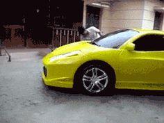 Just Washing My Ferrari