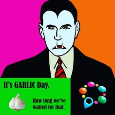 Allium sativum, commonly known as garlic, is a species in the onion genus, Allium. Its close relatives include the onion, shallot, leek, chive, and rakkyo... But today... It's #GARLICDAY!