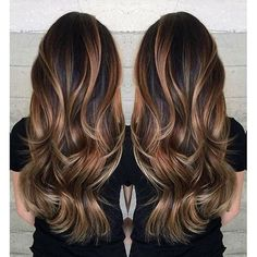 Gorgeous long brunette hair with rich blonde balayage hair color by Janai Hartt… Hair goals Hair Color Balayage, Balayage Brunette Long, Haircolor, Long Brunette Hairstyles, Dark Hair With Balayage, Balayage Bronde, Brunette With Blonde Balayage, Rich Brunette, Auburn Balayage