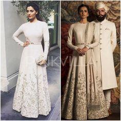 Saiyami Kher looked breathtakingly beautiful in a Sabyasachi look. Pakistani Designer Suits, Indian Designer Wear, Sabyasachi Gown, Anarkali Dress, Pakistani Couture, Pakistani Dresses, Indian Wedding Outfits, Indian Outfits, Muslim Fashion