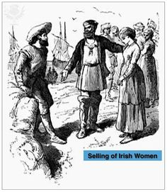 The treatment of Irish slaves was more cruel than that of African slaves. Description from aohflorida.org. I searched for this on bing.com/images