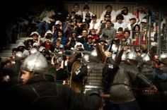 Record crowds enjoy the Tournament, the highlight two day event of the Abbey Medieval Festival