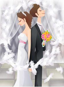 Sweet wedding set 79 vector - Vector People free download