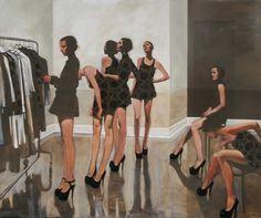 "Michael Carson, """"Intermission"","" ""60"" x 72"""" Bonner David Galleries"