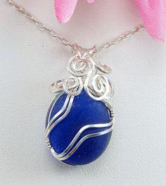 Sea Glass Jewelry Cobalt Blue Sea Glass by beachglassgonewild
