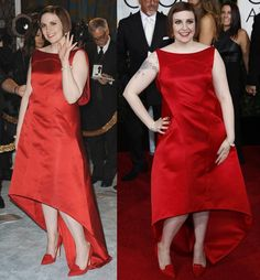 Find More Celebrity-Inspired Dresses Information about Lena Dunham Red High Low Asymmetrical Celebrity Dress Red Carpet Dress Scoop Neck Plus Size Satin A Line Long Evening Gown ,High Quality dress wear beach wedding,China gown wedding dress Suppliers, Cheap gown supplier from Amanda's Dress House on Aliexpress.com