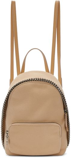 Shaggy deer faux-suede backpack in powder pink. Signature curb chain and tonal faux-leather trim throughout. Twin detachable, convertible, and adjustable post-stud shoulder straps. Zippered compartment with logo disc pull-tab at face. Two-way zip closure at main compartment. Patch pocket at interior. Tonal logo-patterned textile lining. Silver-tone and gunmetal-tone hardware. Tonal stitching. Approx. 7 length x 9 height x 5 width.Made from cruelty-free, non-animal materials.