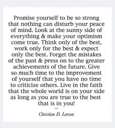 be the best that is in you