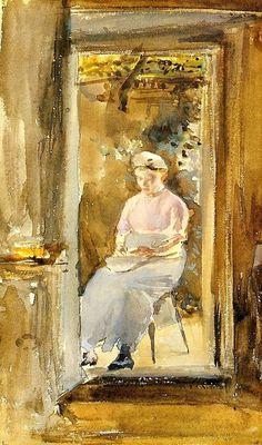 Shelling Peas - James McNeill Whistler - circa 1884