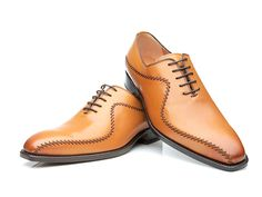 Handmade Cognac Leather Men's Lace Up Brogue Dress Wing Shoes sold by Leather Art Shop more products from Leather Art 2020 on Storenvy, the home of independent small businesses all over the world. Cute Shoes, Men's Shoes, Dress Shoes, Shoes Men, Leather Heels, Leather Men, Lace Oxfords, New Mens Fashion, Men's Fashion