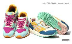 #asics x #atmos x #LilyBrown Gel Saga #sneakers