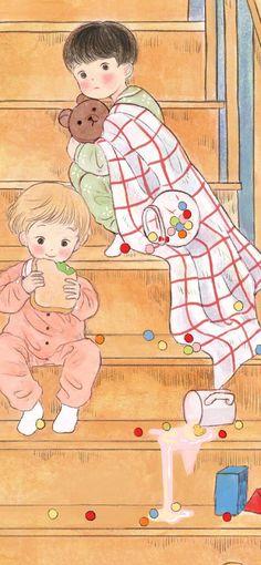 Best cute anime pictures images in Let's see more magic world. Anime Angel Girl, Anime Art Girl, Sweet Drawings, Vintage Illustration Art, Anime Couples Drawings, Digital Art Girl, Cartoon Pics, Art Sketchbook, Aesthetic Art
