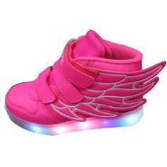Gaorui Kids boy girl LED light up sneaker athletic wings trainers high-top shoes USB Charging Shoes Christmas unique gift