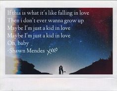 Kid in love Shawn Mendes