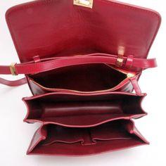 celine classic box bag red