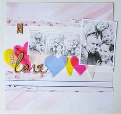 http://scrapfellow.com/love-scrapbook-inspiracio/  Noémi Mounier - Love scrapbook layouts