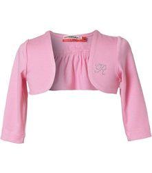 Μπολερό Mini Raxevsky 12.5 e Pink Brand, Ruffles, Monogram, Bows, Crop Tops, Mini, Long Sleeve, Color, Collection