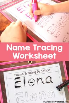 Get a free name tracing practice worksheet with your childs name on it today! worksheet preschool pre-k nametracing letterformation printable 269582727682022605 Preschool Names, Preschool Prep, Preschool Writing, Free Preschool, Preschool Classroom, In Kindergarten, Autism Preschool, Preschool Journals, Kindergarten Morning Work
