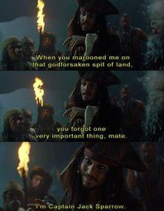 Jack Sparrow quote   Captain Jack Sparrow