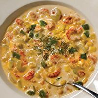 Crawfish and Corn Soup! Ingredients are simple! Substitue crawfish for shrimp and you've got shrimp and corn soup! Crawfish Recipes, Seafood Recipes, Cooking Recipes, Crawfish And Corn Bisque Recipe, Shrimp And Corn Soup, Grandma's Recipes, Creole Recipes, Cajun Recipes, Gastronomia