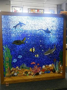 Under The Sea Stained Glass Mosaic Window