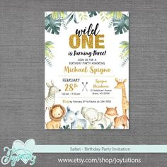 WOODLAND PARTY Personalised Birthday Party Invitations A6 envelopes kids swing