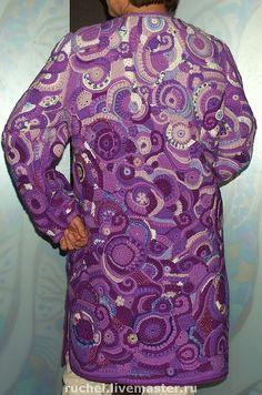 """Верхняя одежда ручной работы. Ярмарка Мастеров - ручная работа Пальто """"Сиреневый джаз"""". Handmade."""