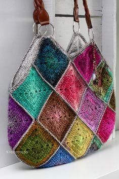 Crochet Blanket Edging, Crochet Tote, Crochet Handbags, Crochet Purses, Knit Crochet, Hippie Bags, Boho Bags, Crochet Classes, Crochet Projects