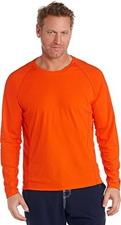 Coolibar UPF 50  Men's Long Sleeve Swim Shirt - Sun Protective (Small- Orange Sun) <3 This is an Amazon Associate's Pin. Find the item on Amazon website by clicking the VISIT button.