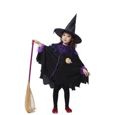 >> Click to Buy << kids Black flying female sorcerer cosplay costumes halloween kids clothing Anime Apparel for evening party cospaly #Affiliate