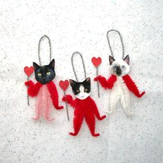 Valentine Vintage Style Chenille Ornaments