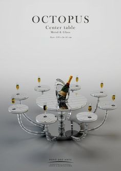 Octopus Center Table - Pont des Arts - Designer Monzer Hammoud - Paris-