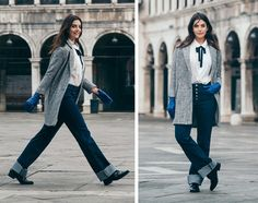 "MANGO's new Violeta by MANGO Venice Diaries ""unique trips to Venice"" #AW16 editorial feat. Charlotte Jones #WeAreVioleta plus size fashion #curvywomen Look-009"