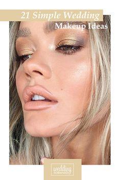 21 Simple Wedding Makeup Ideas ❤ Minimalist became the main bridal beauty trend of 2019. Here you will find find simple wedding makeup ideas that take take your breath away. #wedding #bride #bridalmakeup #simpleweddingmakeup