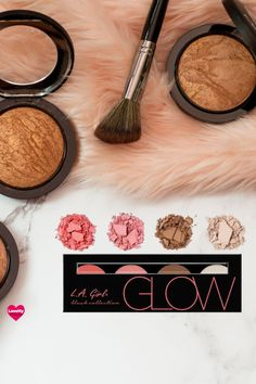 Check out the LA Girl Blush beauty brick (Glow) at LoveMy Makeup NZ Beauty Makeup Tips, Makeup Tools, Makeup Cosmetics, How To Use Makeup, Makeup You Need, Makeup Needs, Eyeshadow Tips, How To Apply Eyeshadow, Makeup Tricks