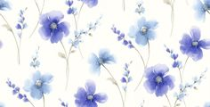 Riviera (413401) - Arthouse Wallpapers - Beautifully considered in design this exquisite watercolour floral brings an injection of colour into your home. Showing in Blue on off white - more colours are available. Please request a sample for true colour match.