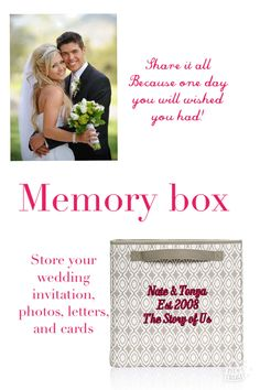 Give a gift that they will cherish for years to come. #thirtyone #weddings #yourwaycube