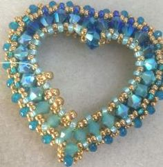 Edgars work has a rich opulence to it that I first noticed back in 2011 while preparing Marcia DeCoster Presents. I asked him to be includ. Beaded Jewelry Patterns, Embroidery Jewelry, Bracelet Patterns, Beading Patterns, Seed Bead Jewelry, Heart Jewelry, Beaded Brooch, Beaded Necklace, Necklace Tutorial
