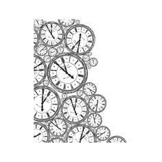 Kaisercraft - 12 x 12 Acetate Overlay - Clocks (7,48 PLN) ❤ liked on Polyvore featuring fillers, backgrounds, drawings, doodles, art, effects, texture, embellishments, quotes and detail