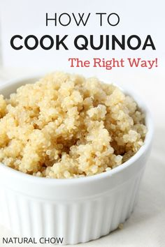 Natural Chow | How to Cook Quinoa | http://naturalchow.com